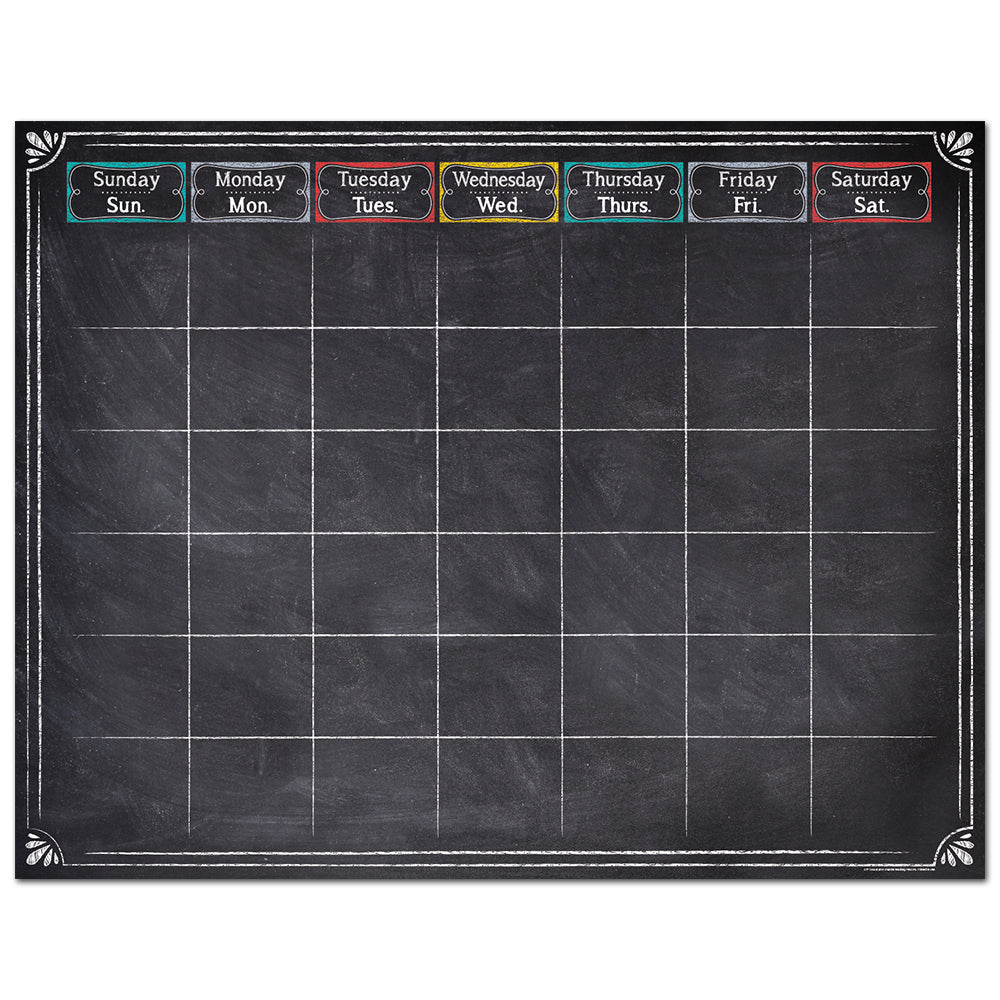 Chalk It Up! Large Calendar Chart