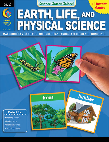 Science Games Galore! – Earth, Life, and Physical Science, Grade 2, eBook