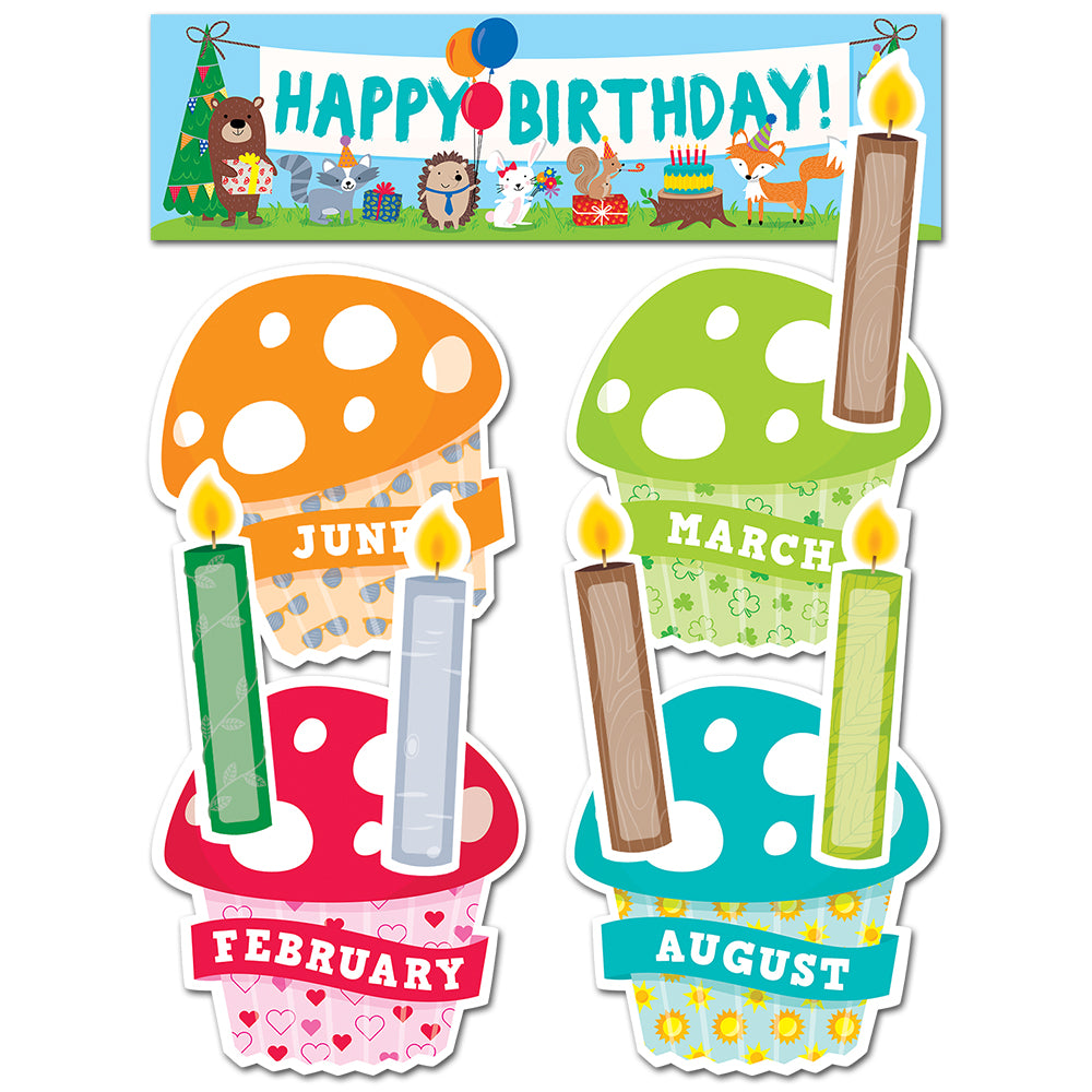 Woodland Friends Happy Birthday Mini Bulletin Board
