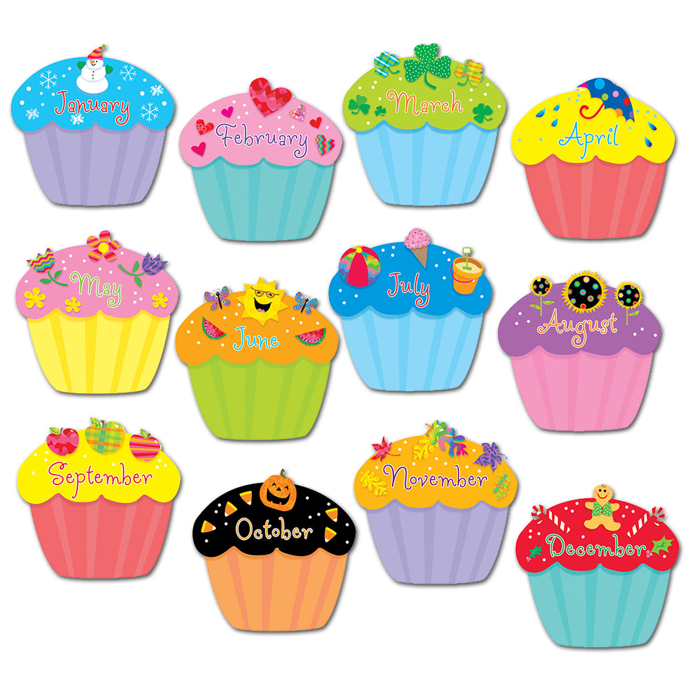 "Cupcakes 6"" Designer Cut-Outs"