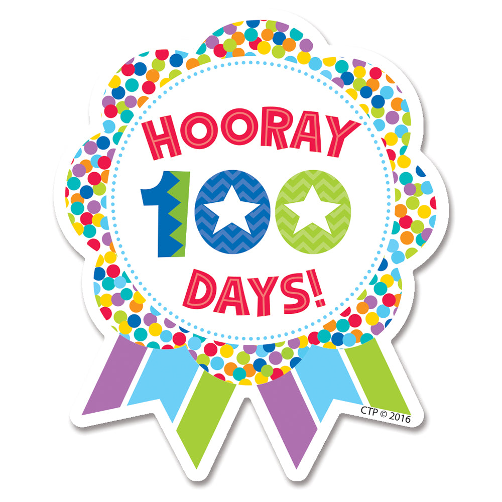 Hooray 100 Days! Ribbon Reward Badge