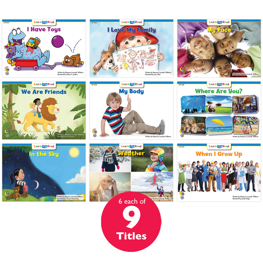 Learn to Read Classroom Pack 1, Level A–B