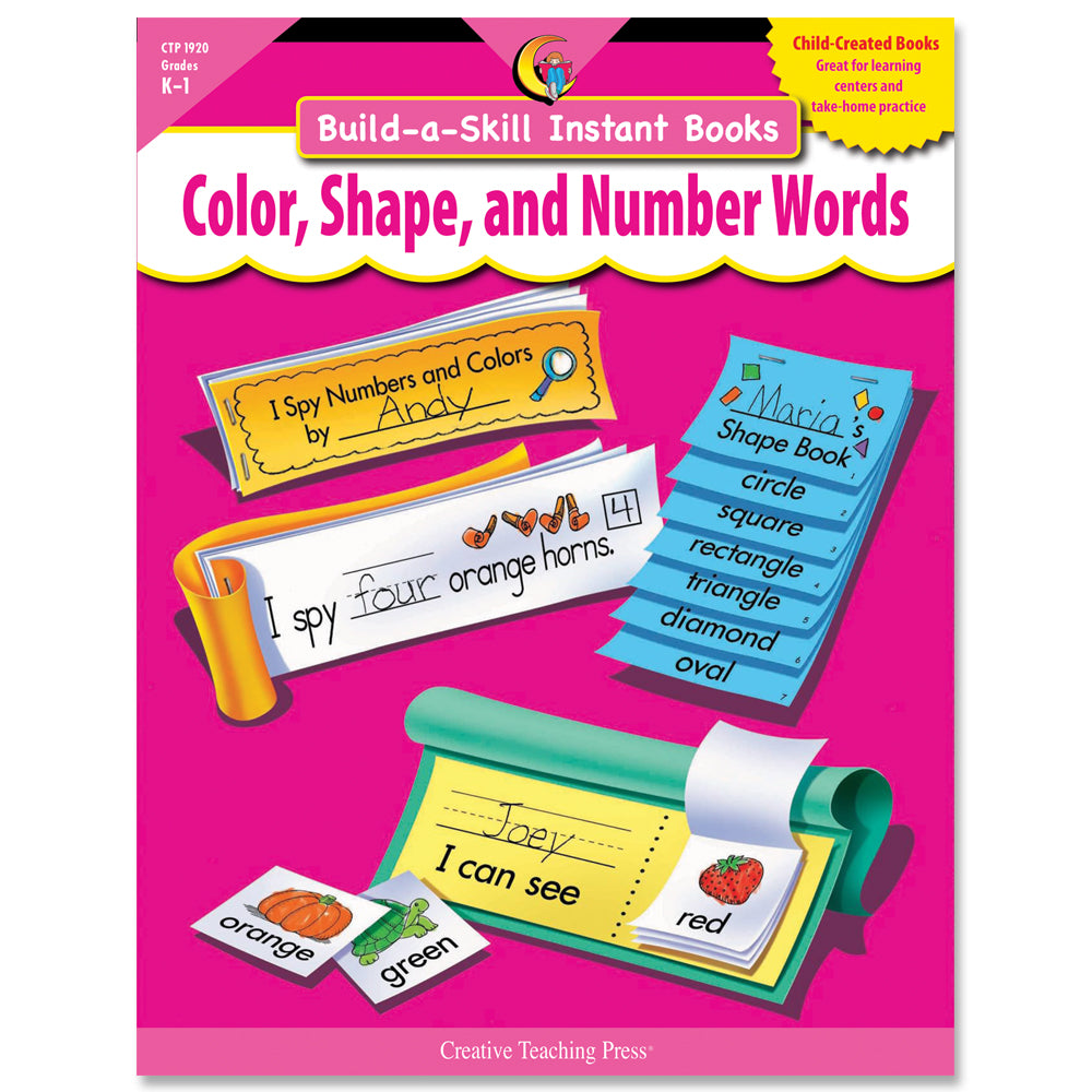 Build-a-Skill Instant Books: Color, Shape, and Number Words, eBook