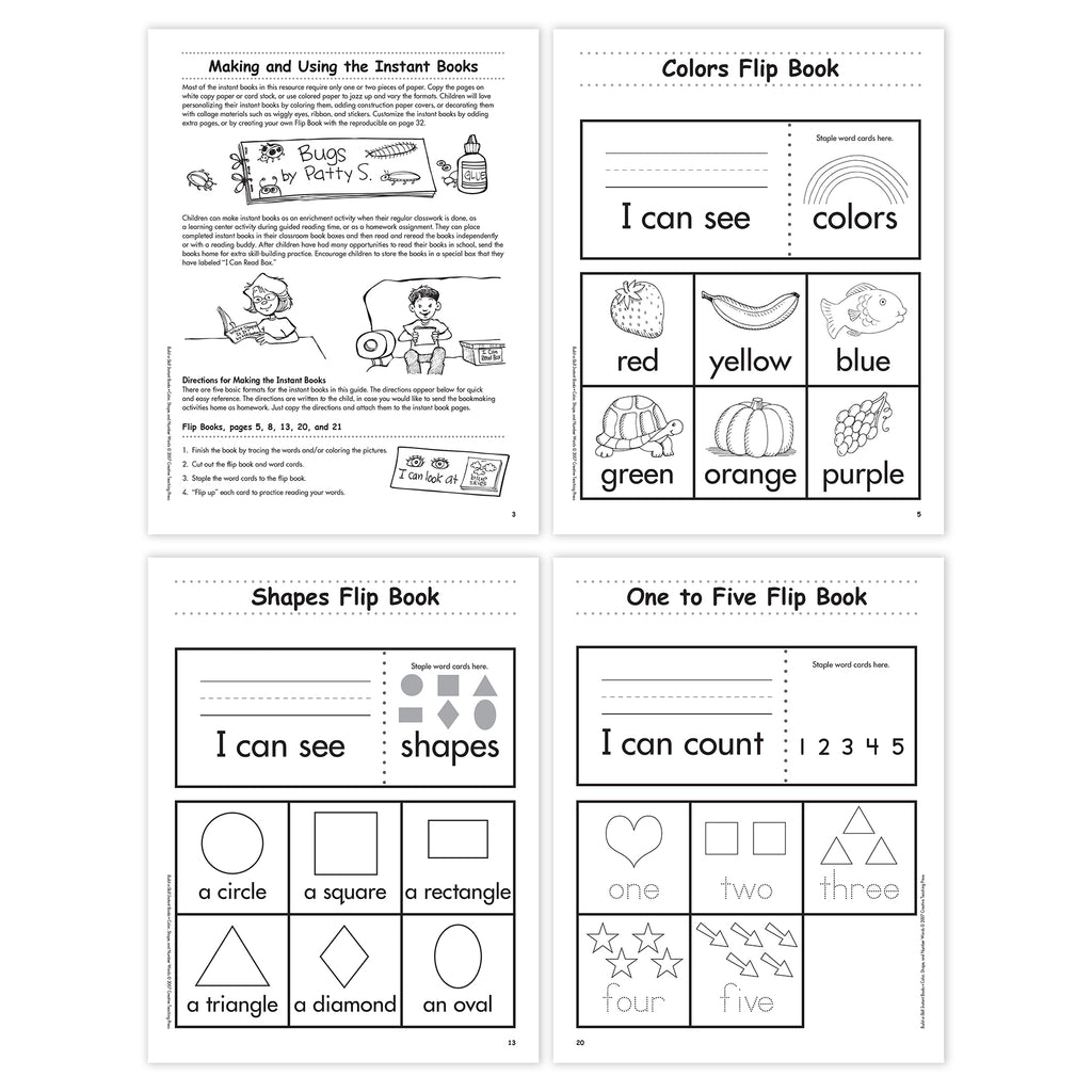 Color, Shape, and Number Flip Book Bundle