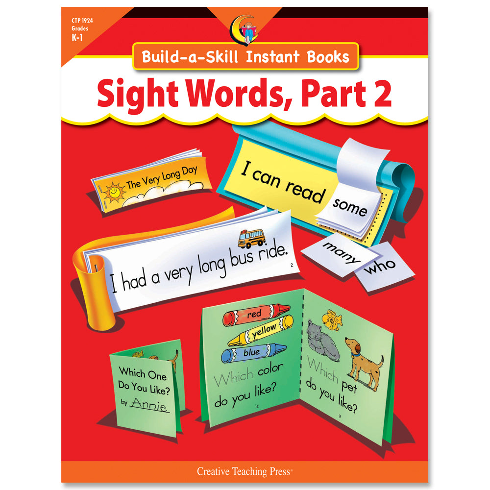 Build-a-Skill Instant Books: Sight Words, Part 2, eBook