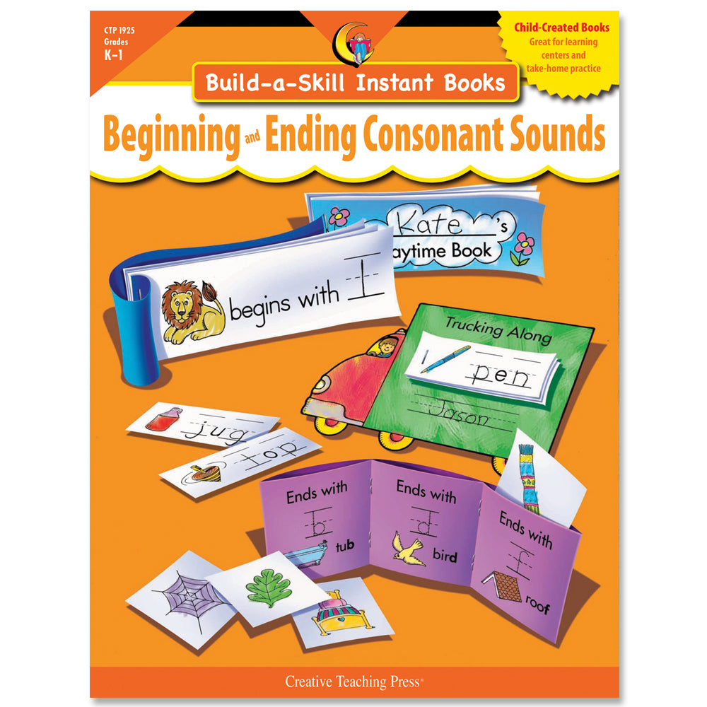 Build-a-Skill Instant Books: Beginning and Ending Consonant Sounds, eBook