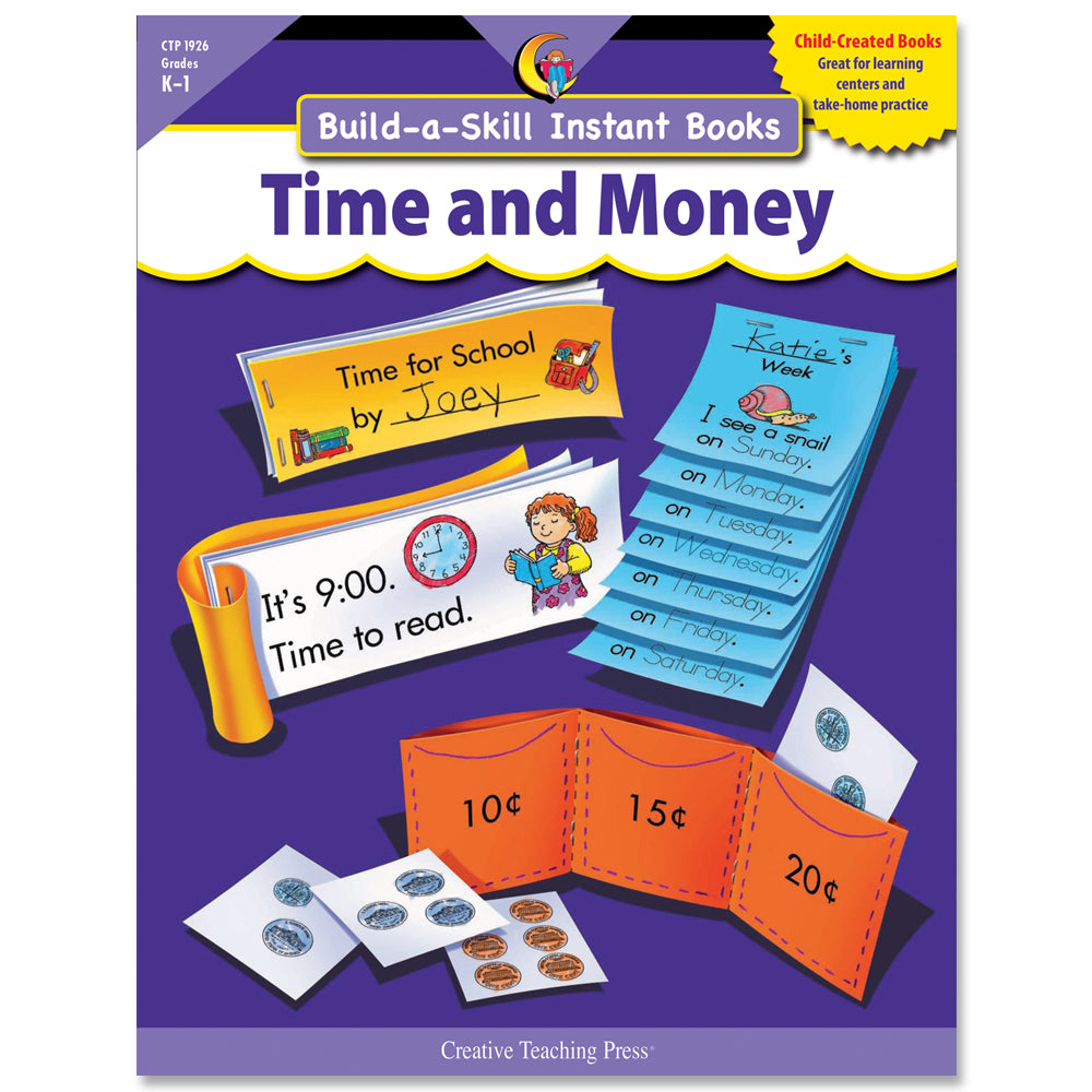 Build-a-Skill Instant Books: Time and Money, Gr. K–1, Open eBook