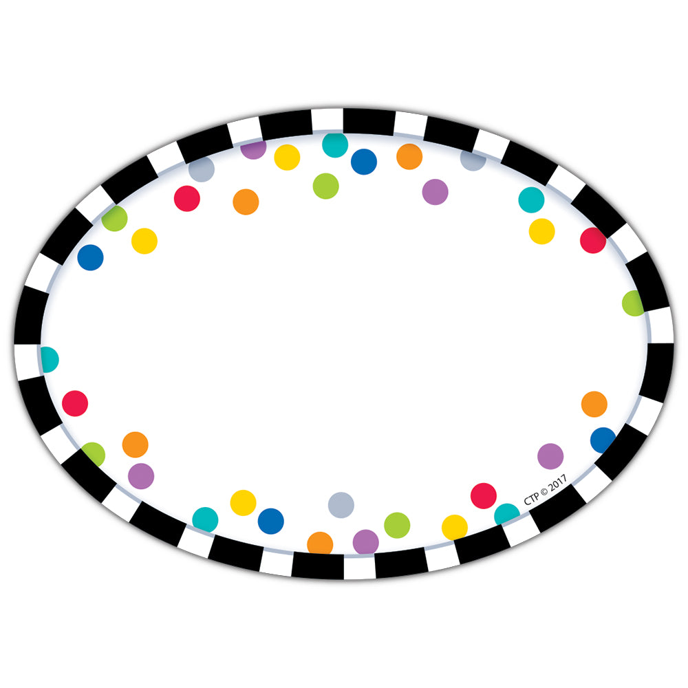 Bold & Bright Stripes & Dots Labels