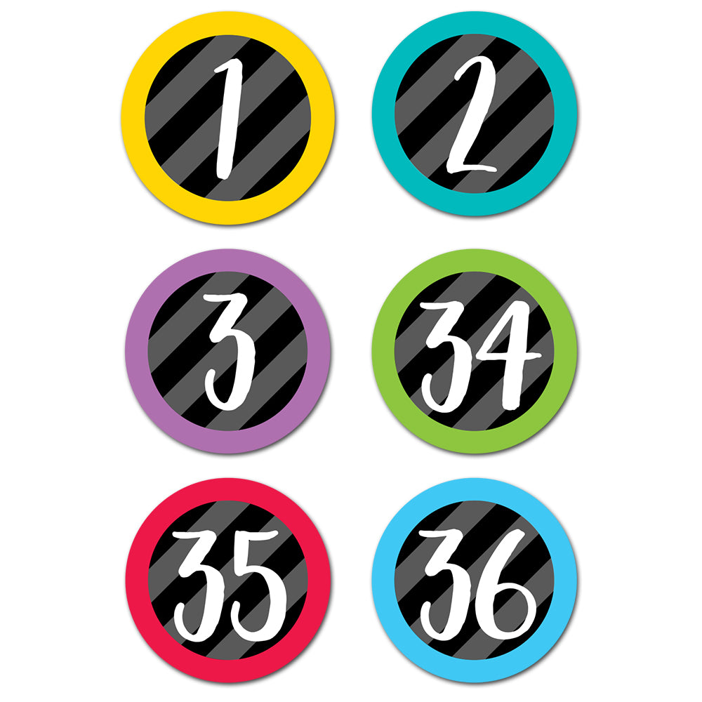 Student Numbers Stickers
