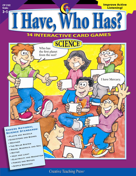 I Have, Who Has? Science, Gr. 3–5, eBook