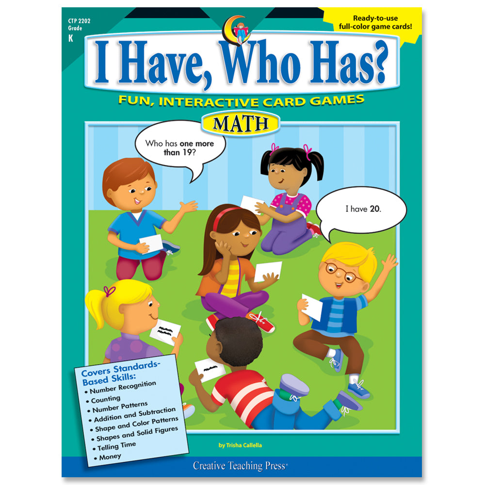 I Have, Who Has? Math, Gr. K, eBook