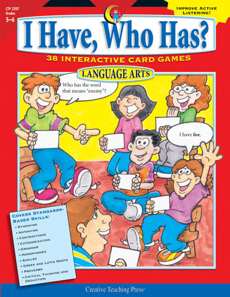 I Have, Who Has? Language Arts, Gr. 5-6, Open eBook