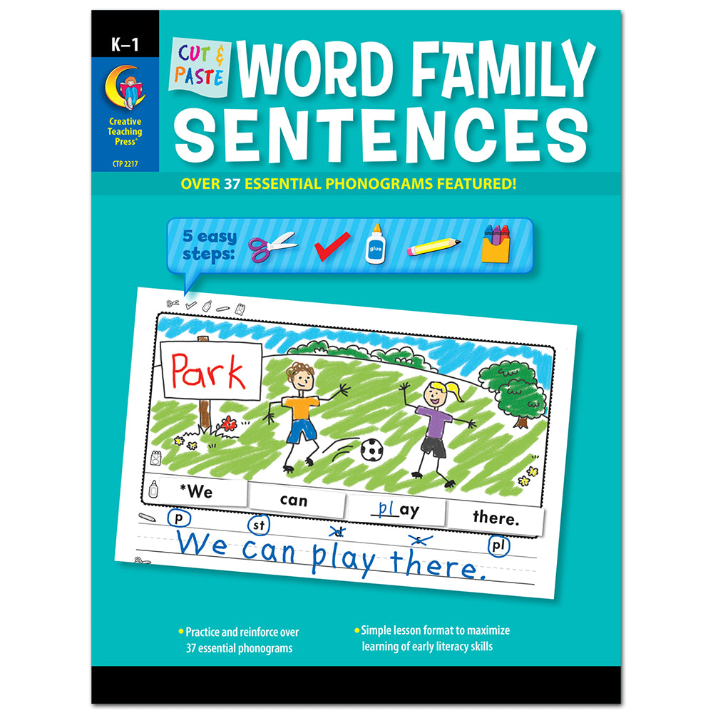Cut & Paste Word Family Sentences