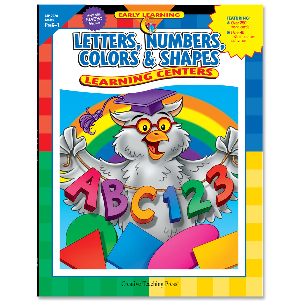 Letters, Numbers, Colors & Shapes Learning Centers, eBook