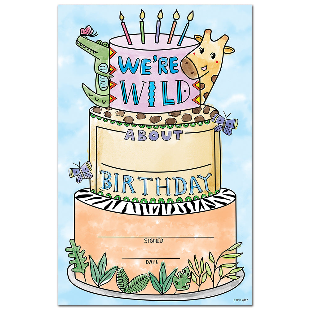 Safari Friends Happy Birthday Award