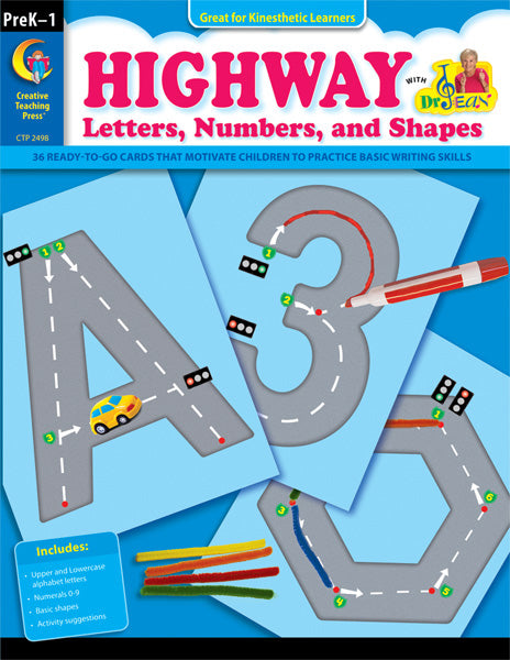Highway Letters, Numbers, and Shapes, eBook