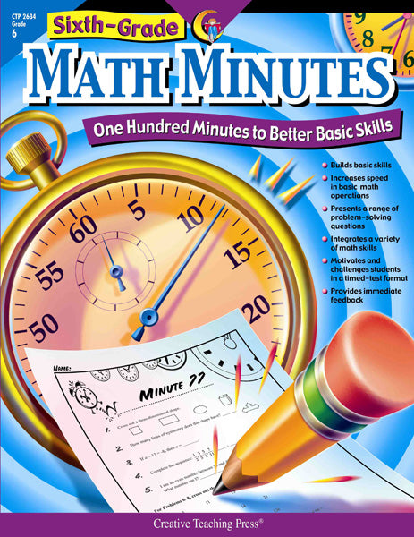 Math Minutes, 6th Grade, eBook