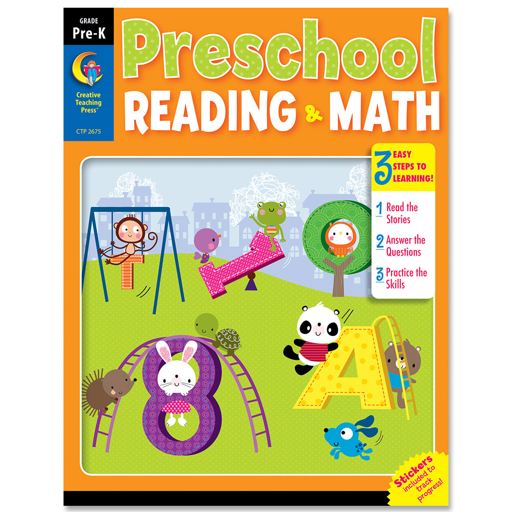 Preschool Reading & Math Jumbo Workbook eBook