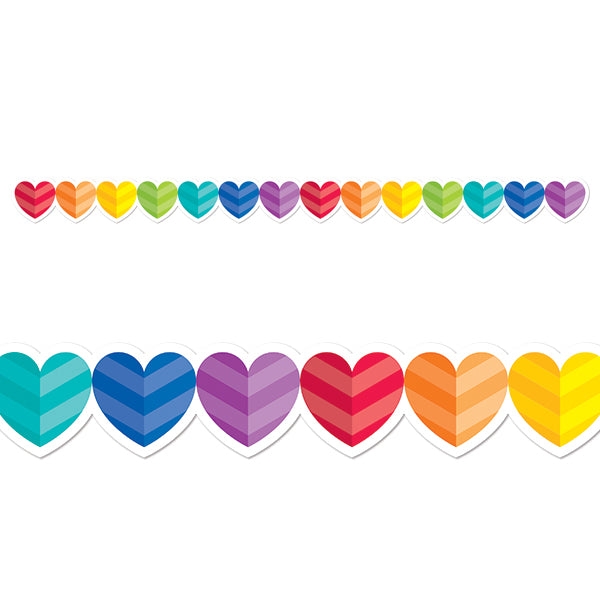 Rainbow Hearts Border