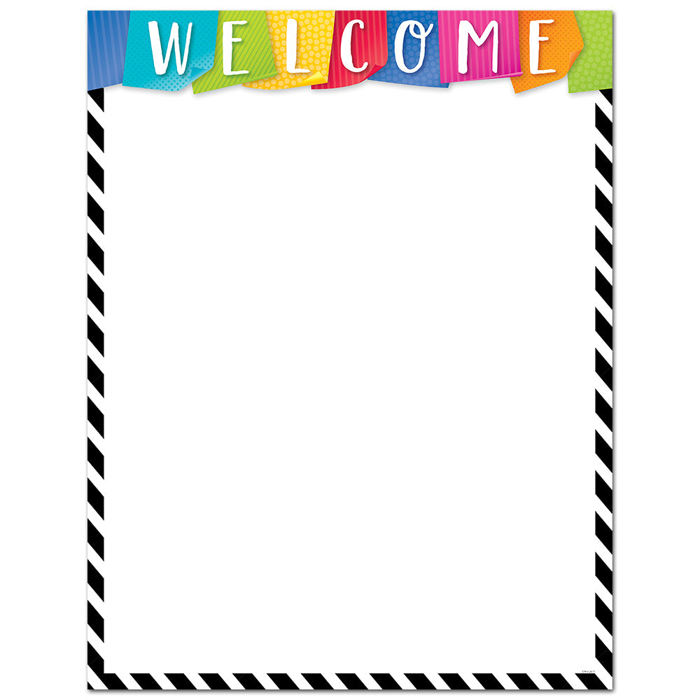Bold & Bright Welcome Chart