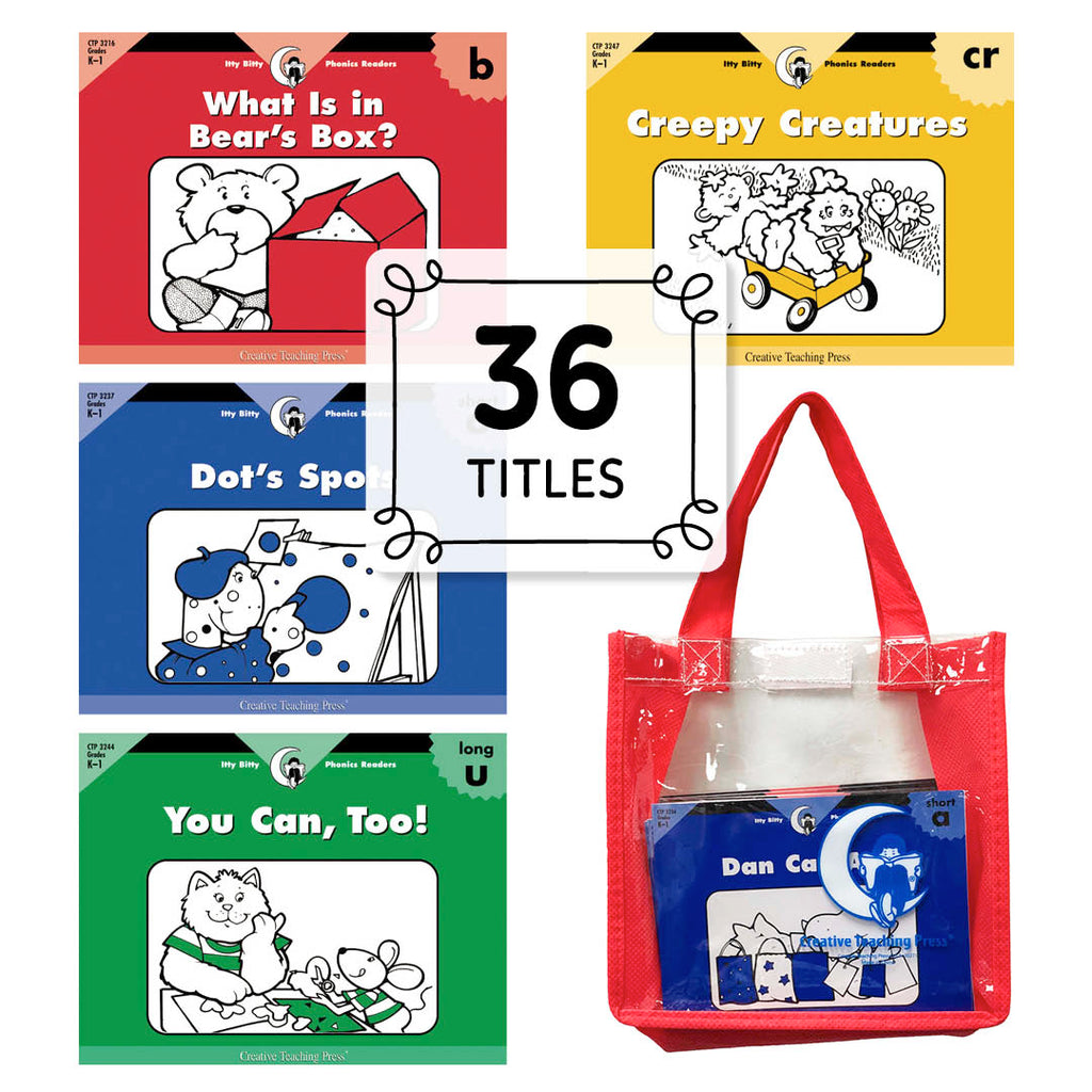 Itty Bitty Phonics Readers Variety Pack with Carrying Case