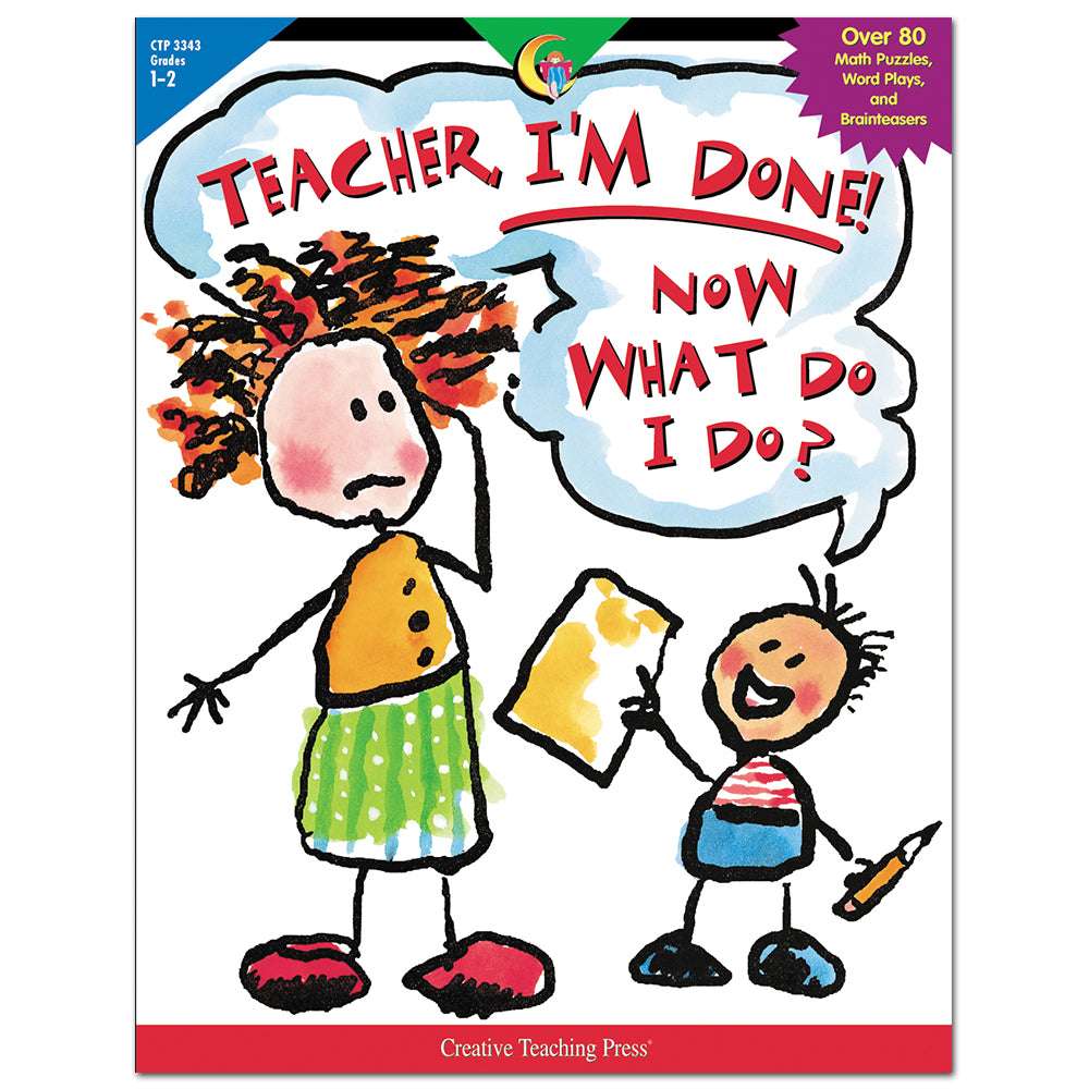 Teacher, I'm Done! Now What Do I Do?, Open eBook