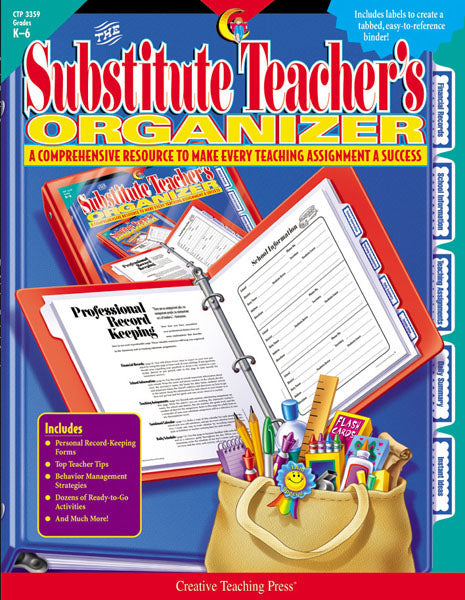 The Substitute Teacher's Organizer Open eBook
