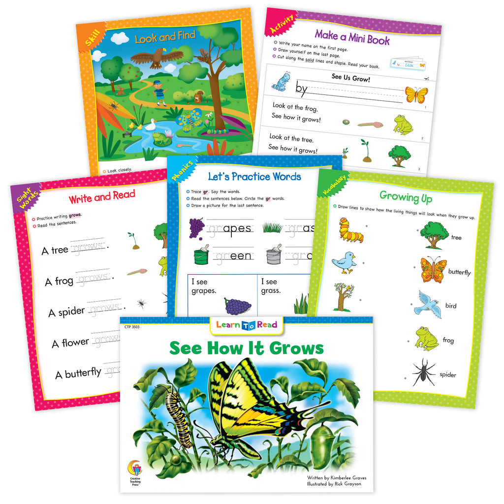 See How It Grows Worksheets