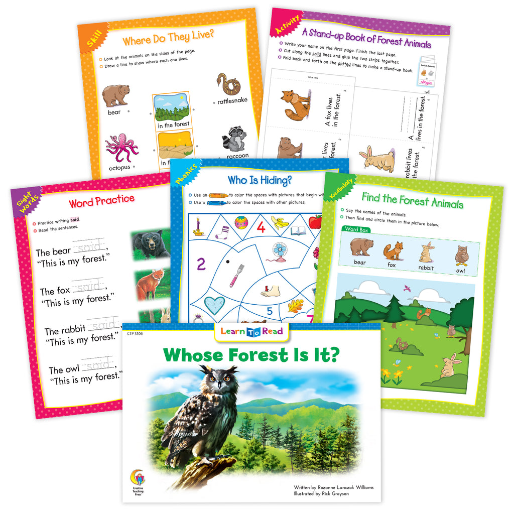 Whose Forest Is It? Worksheets