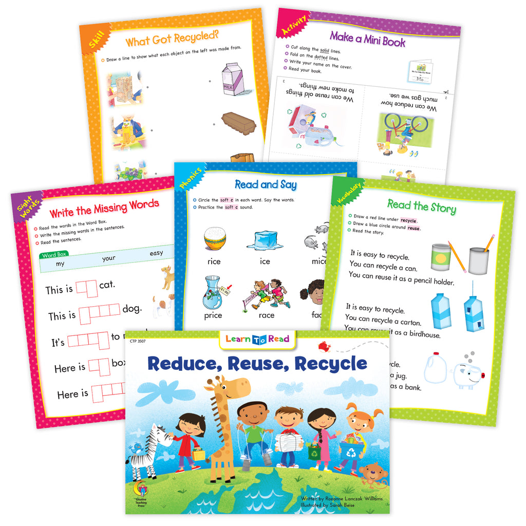 Reduce, Reuse, Recycle Ebook & Worksheets