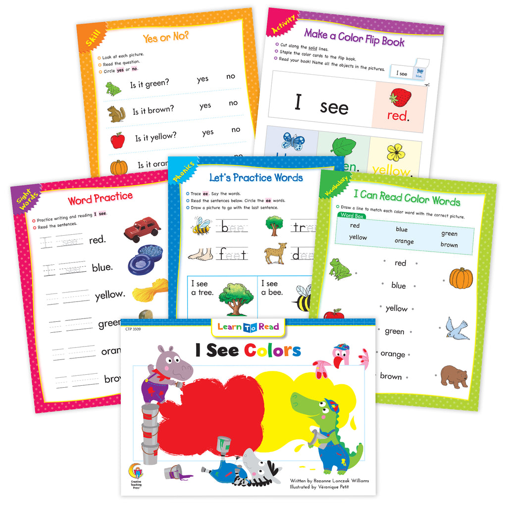 I See Colors Ebook & Worksheets