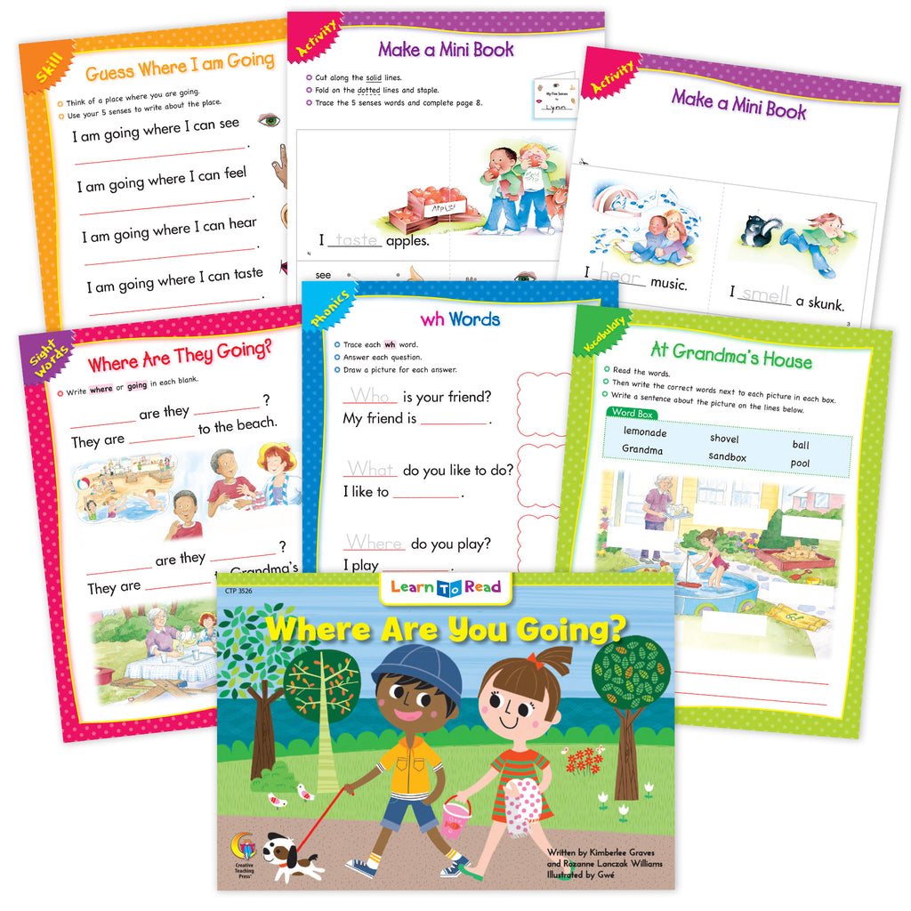 Where Are You Going? Ebook & Worksheets
