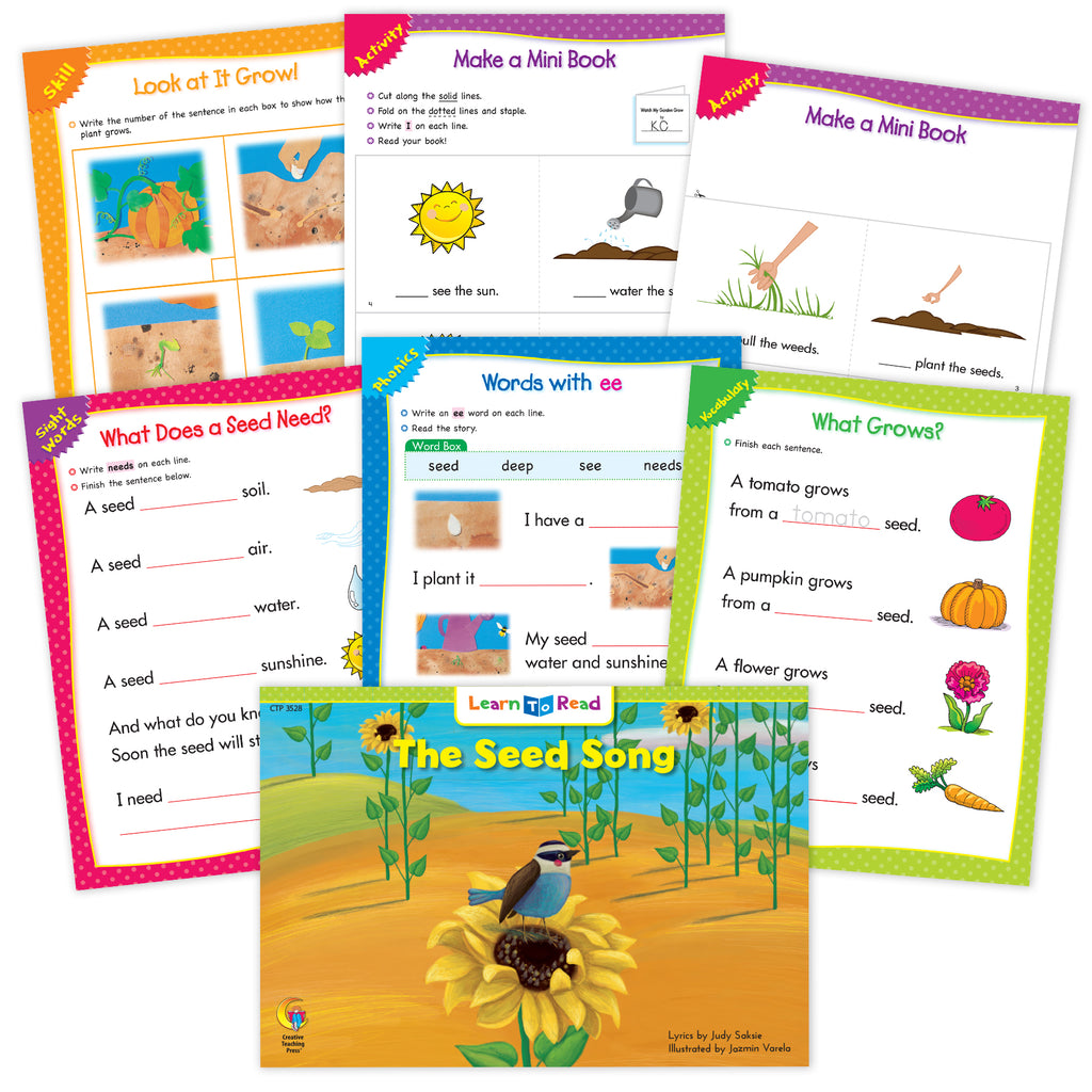 The Seed Song Ebook & Worksheets
