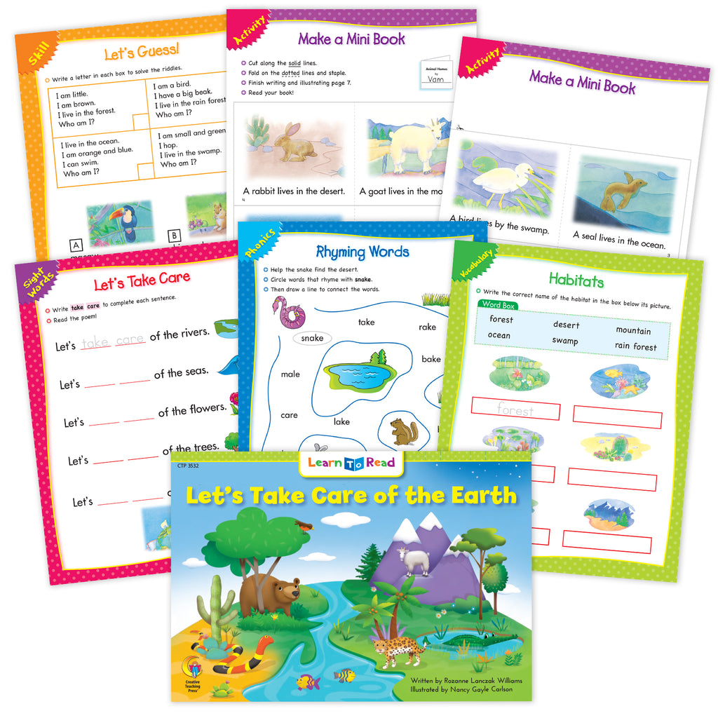 Let's Take Care of the Earth Worksheets