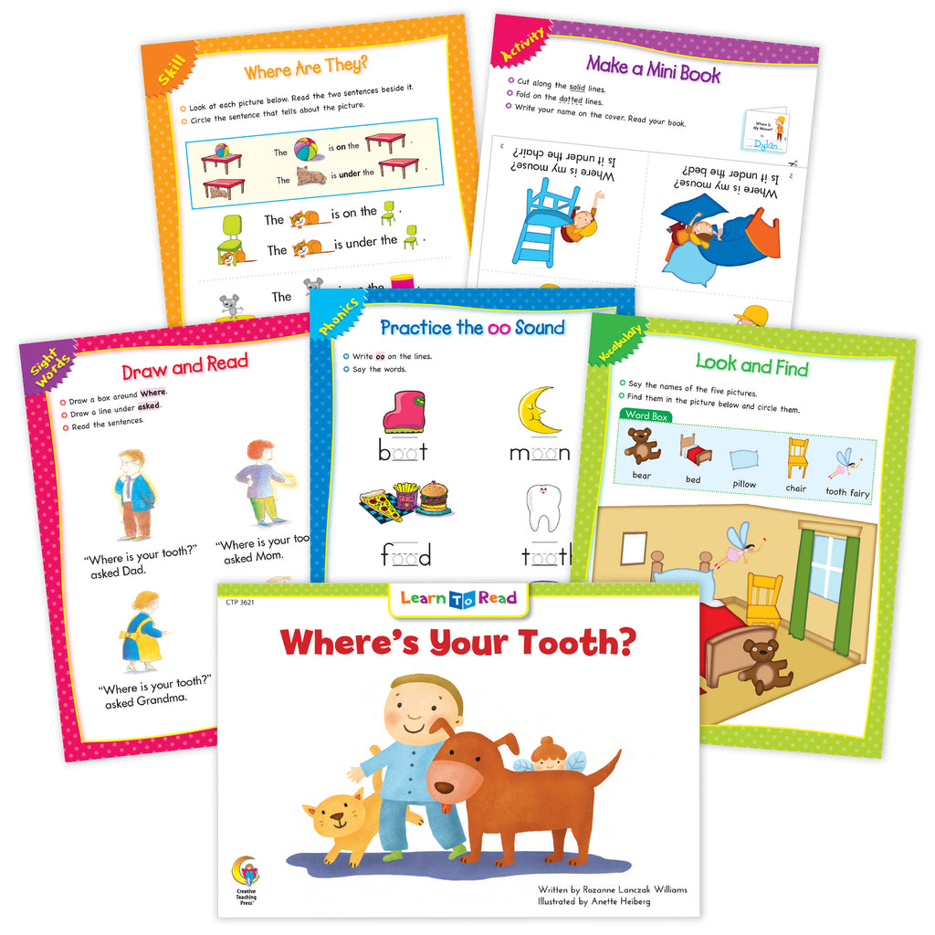 Where's Your Tooth Ebook & Worksheets