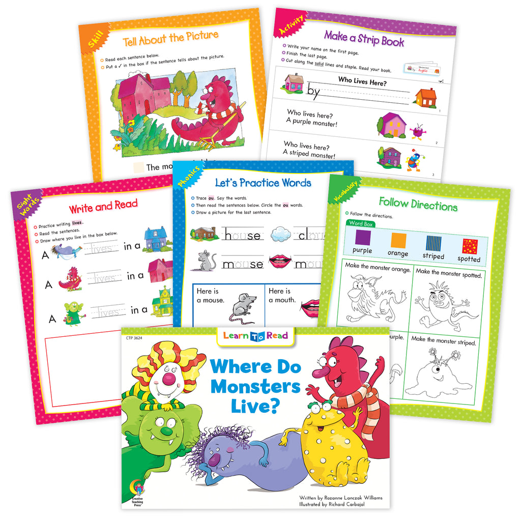 Where Do Monsters Live? Ebook & Worksheets