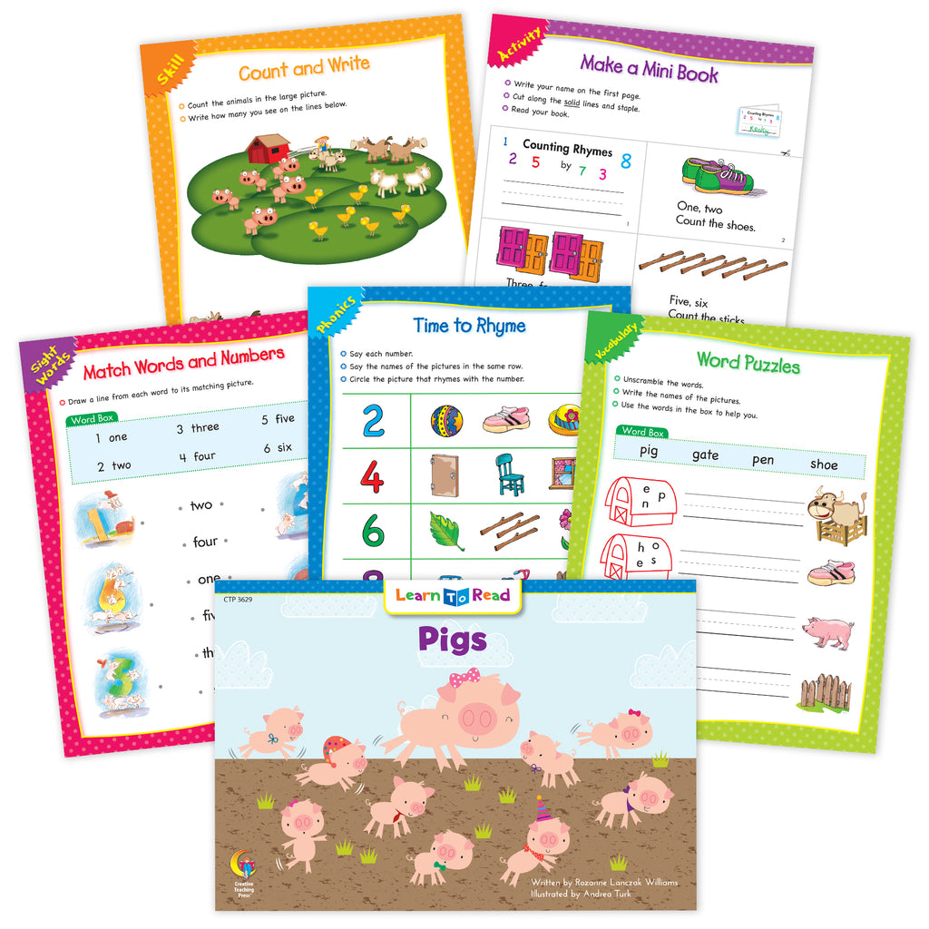 Pigs Ebook & Worksheets