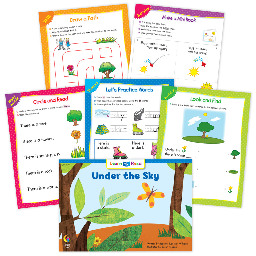 Under The Sky Ebook & Worksheets