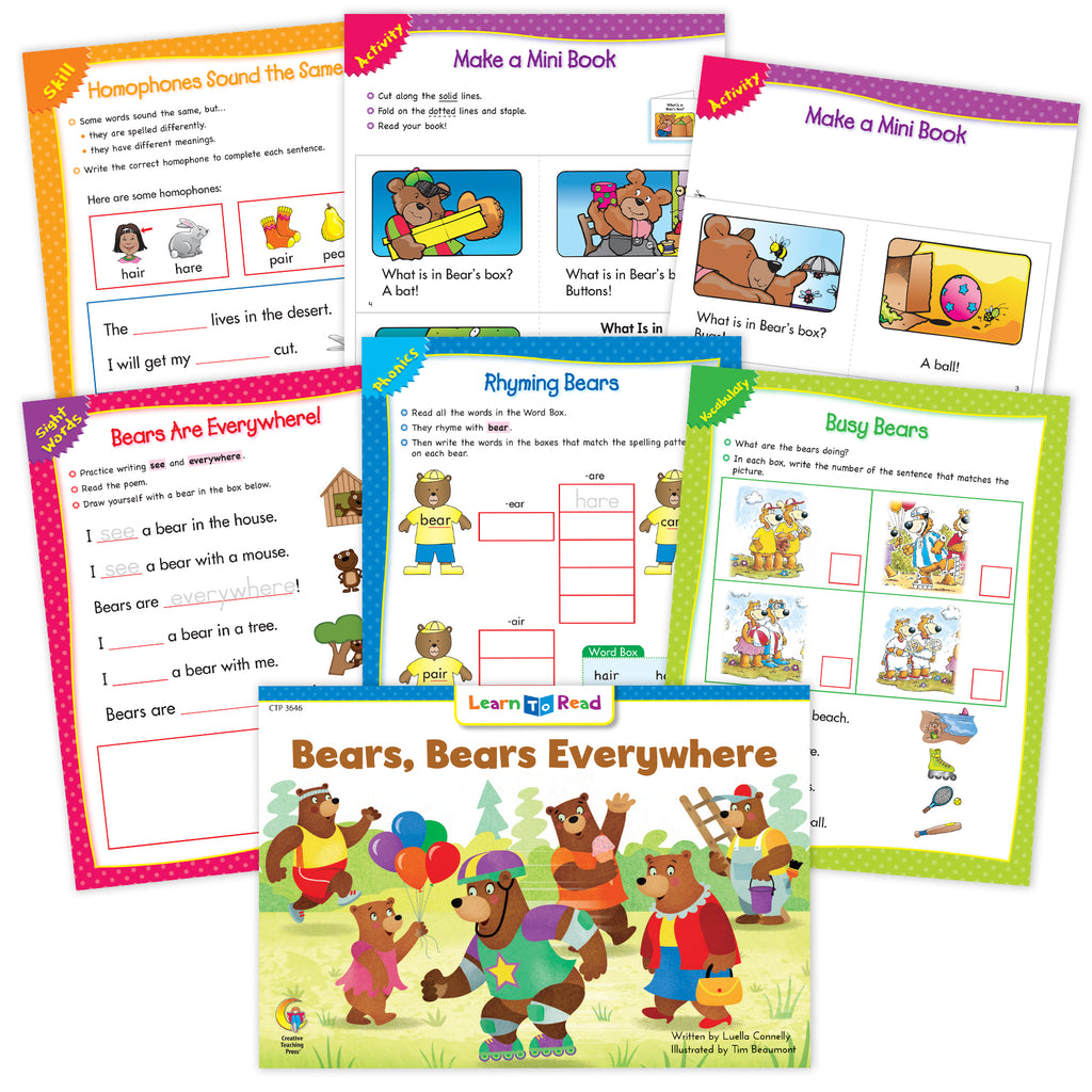 Bears, Bears Everywhere Ebook & Worksheets