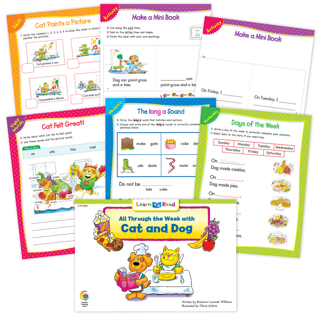 All Through the Week with Cat and Dog Worksheets
