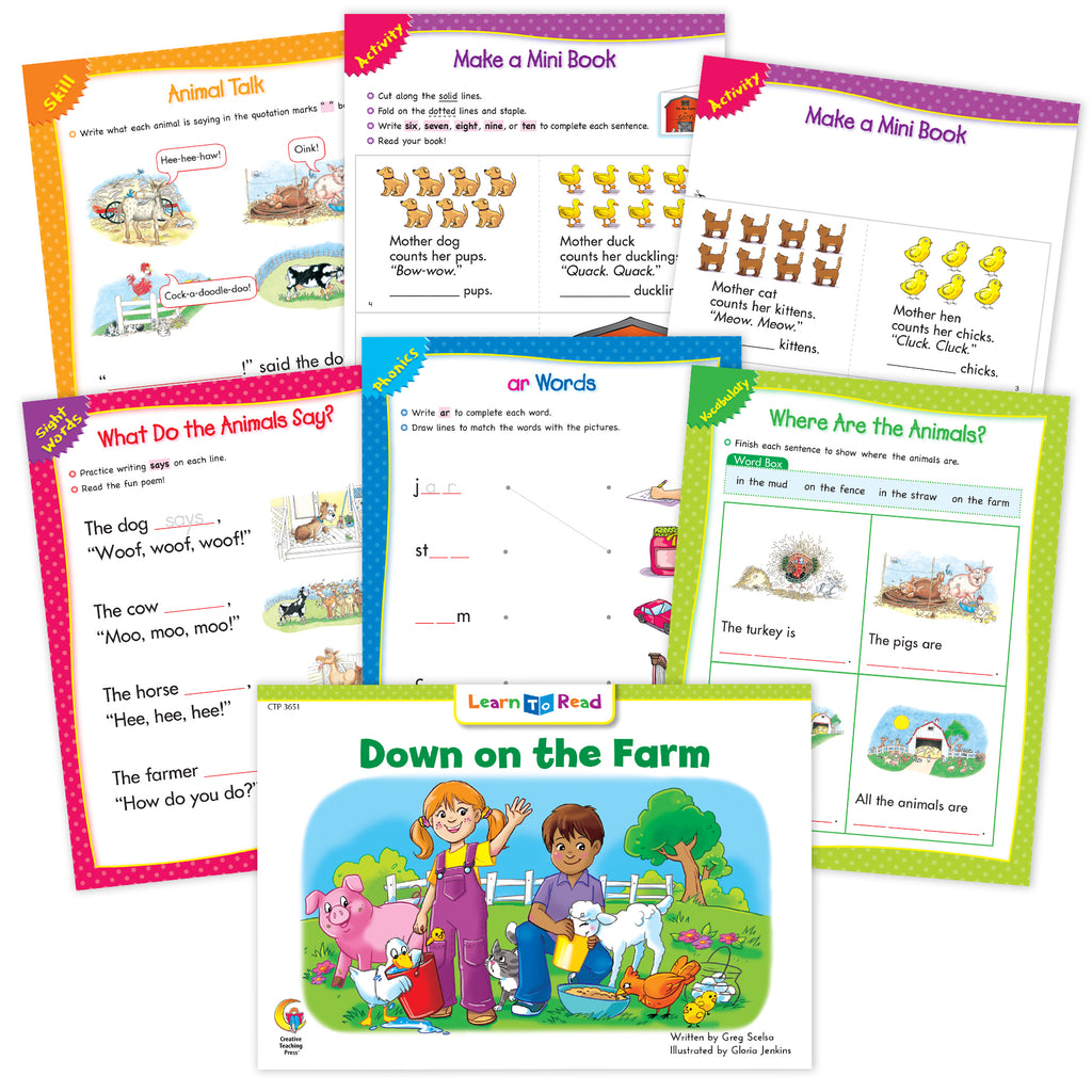 Down On The Farm Ebook & Worksheets