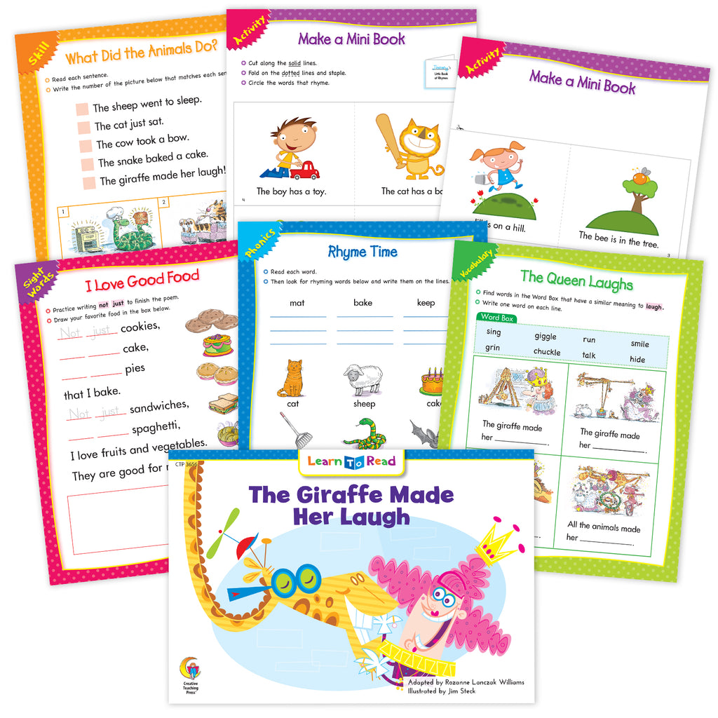The Giraffe Made Her Laugh Ebook & Worksheets