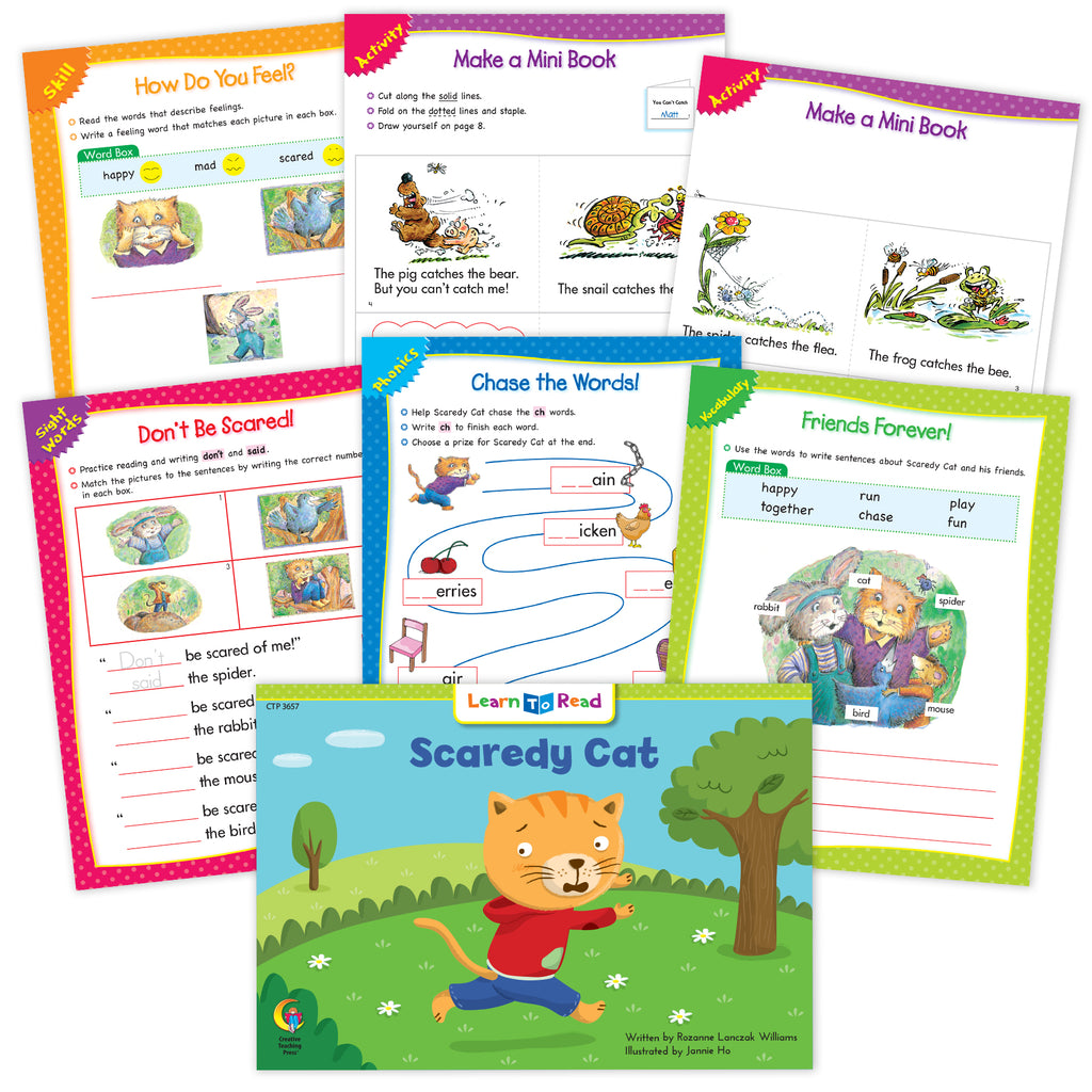 Scaredy Cat Runs Away Ebook & Worksheets