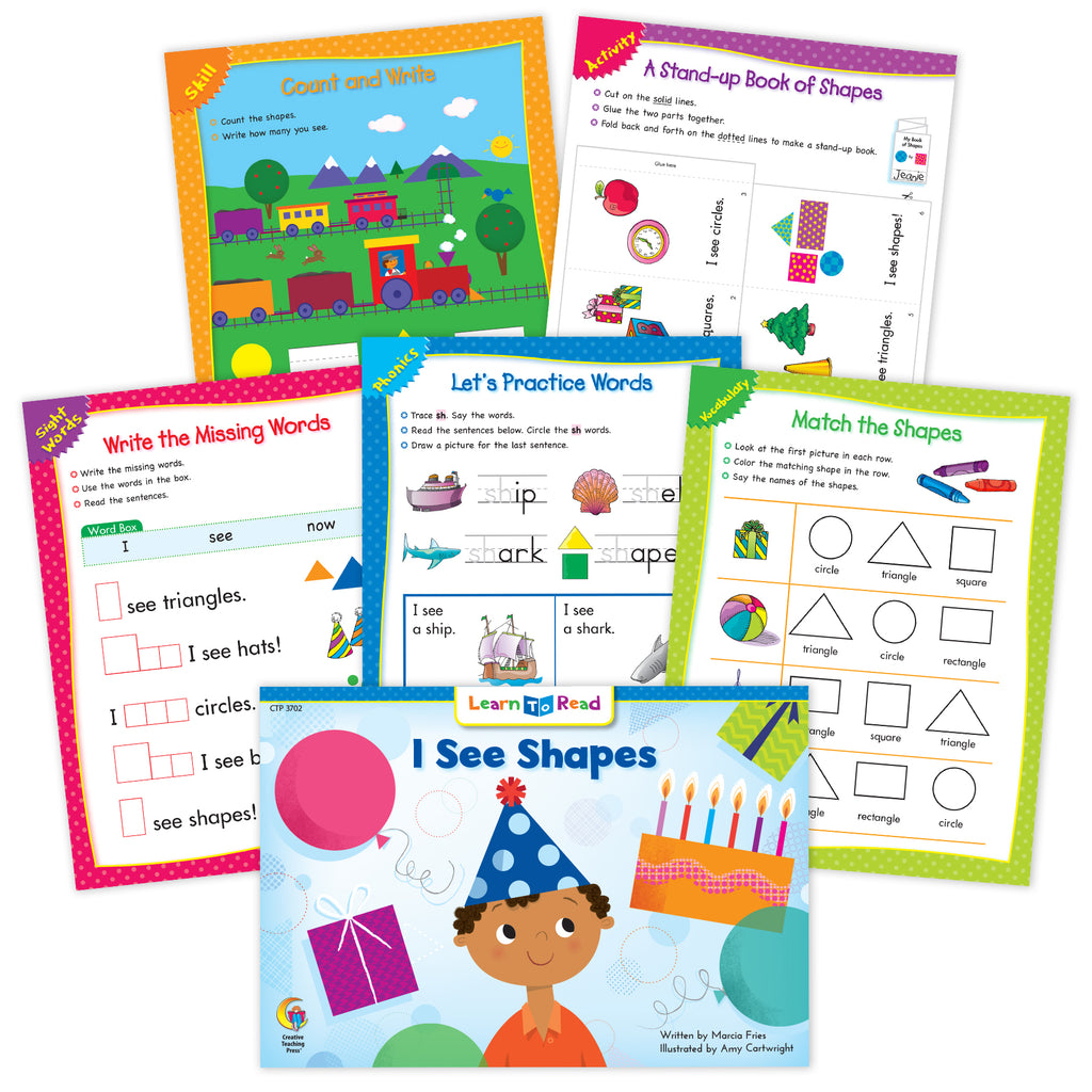 I See Shapes Ebook & Worksheets