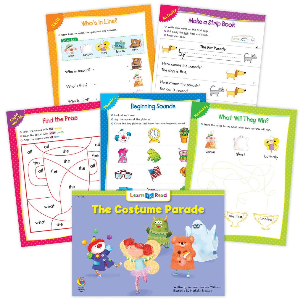 The Costume Parade  Ebook & Worksheets