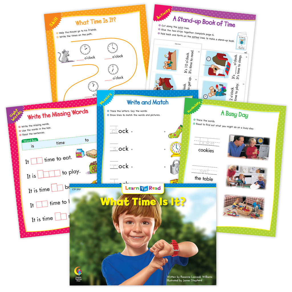 What Time Is It? Ebook & Worksheets