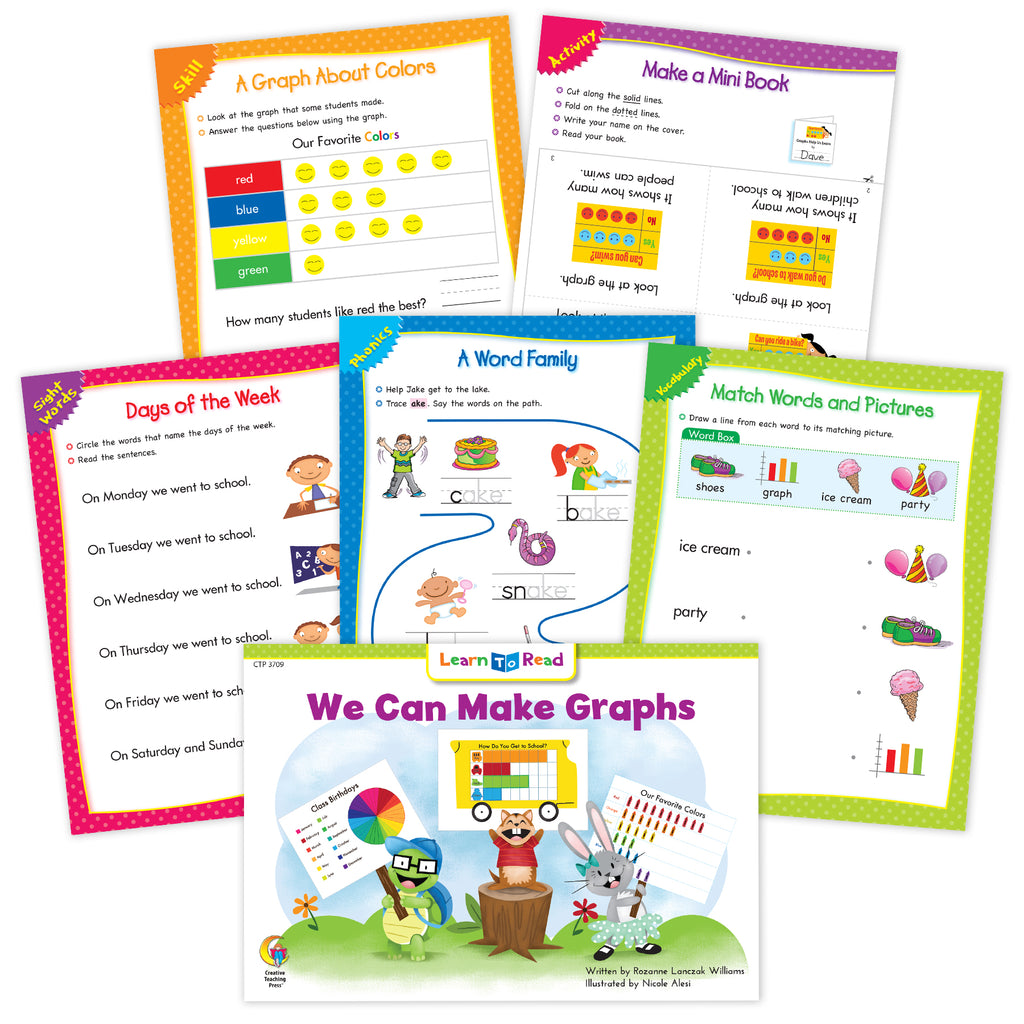 We Can Make Graphs Ebook & Worksheets