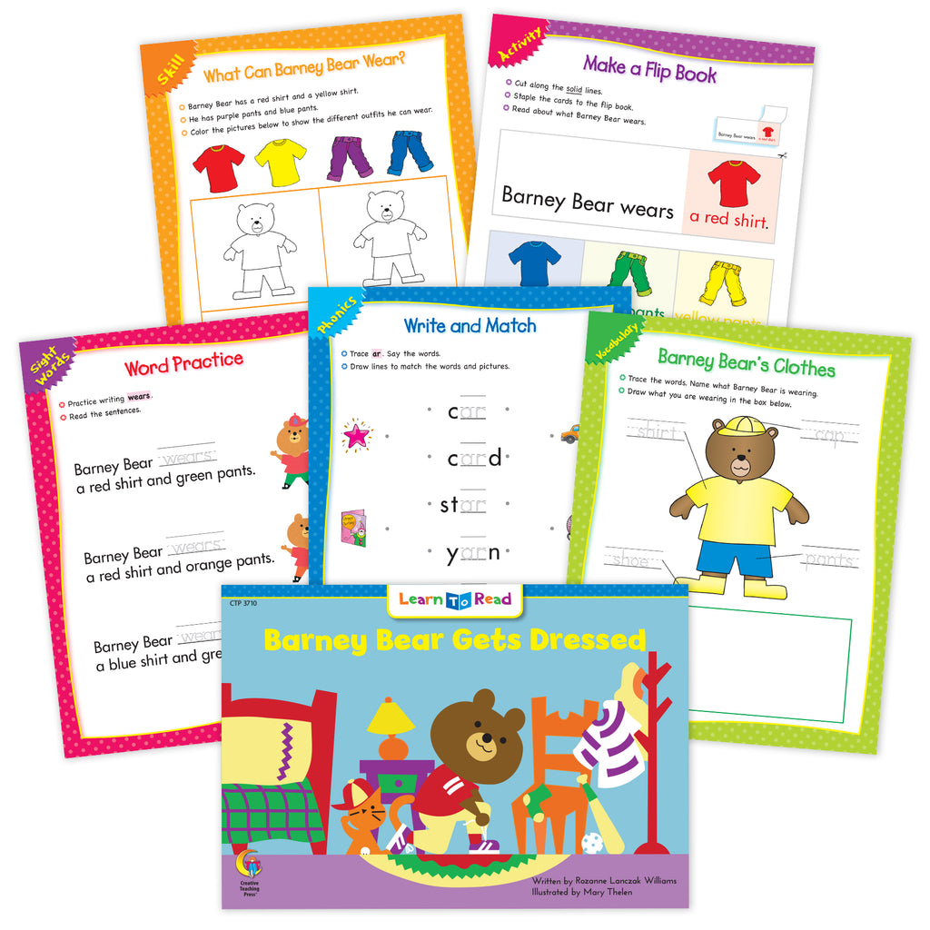 Barney Bear Gets Dressed Ebook & Worksheets