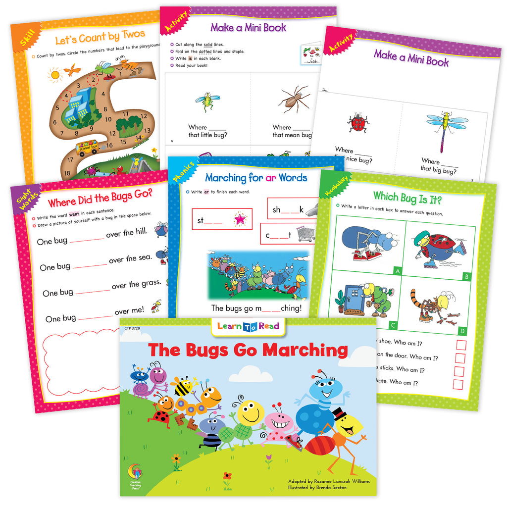 The Bugs Go Marching Worksheets