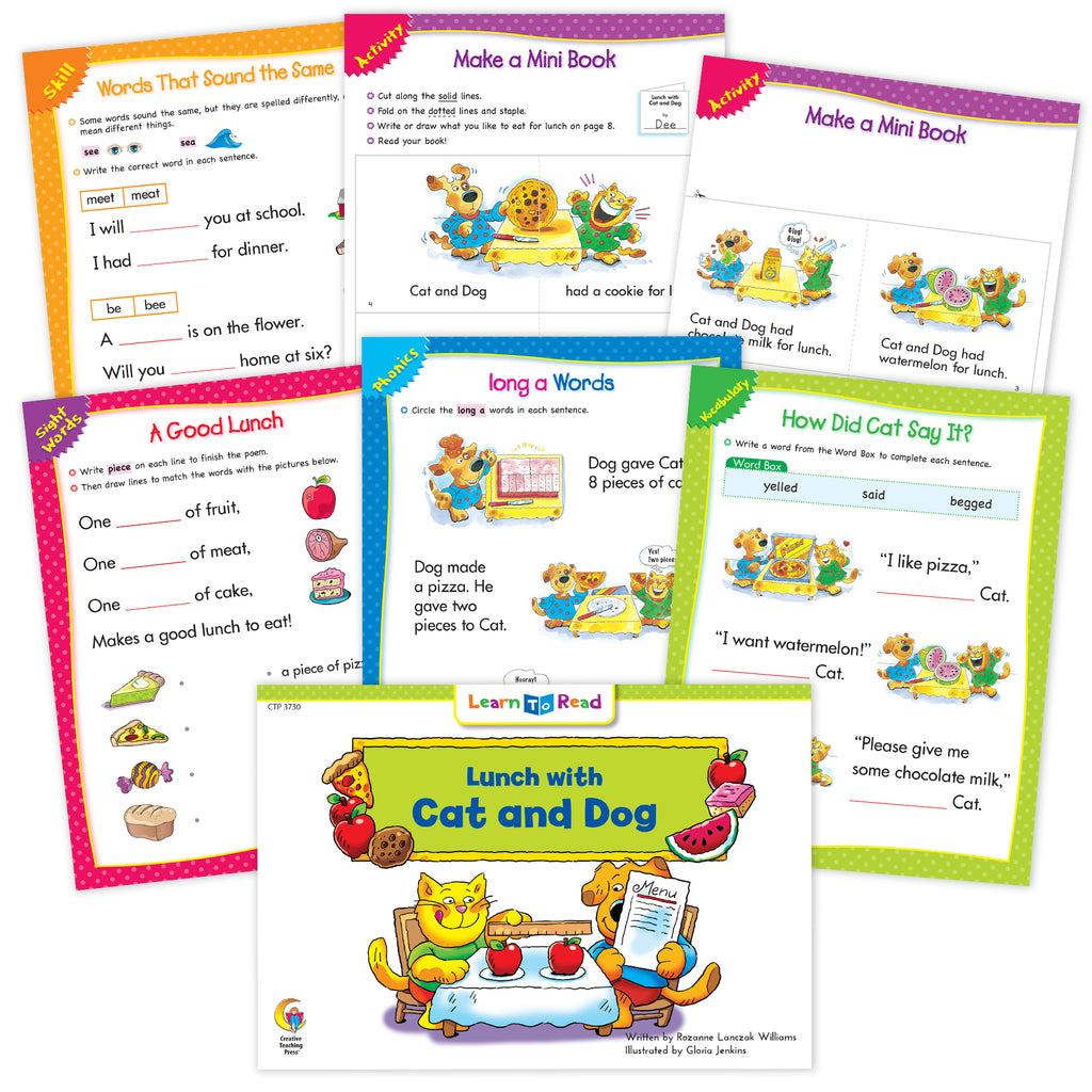 Lunch with Cat and Dog Worksheets